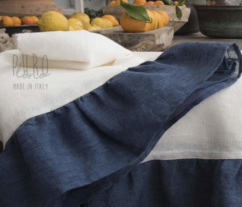 tovagliati tovaglie shabby Tovaglie lino volant jeans