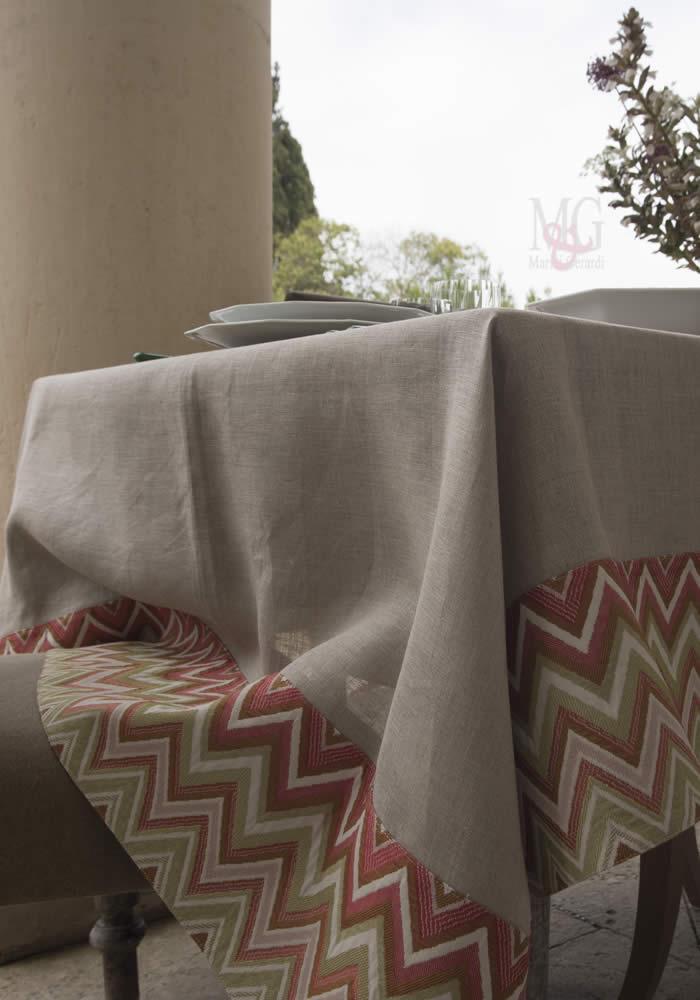 tovaglie da tavola in lino greggio naturale